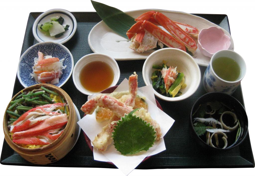 カニ御膳、カニわっぱ飯定食CM