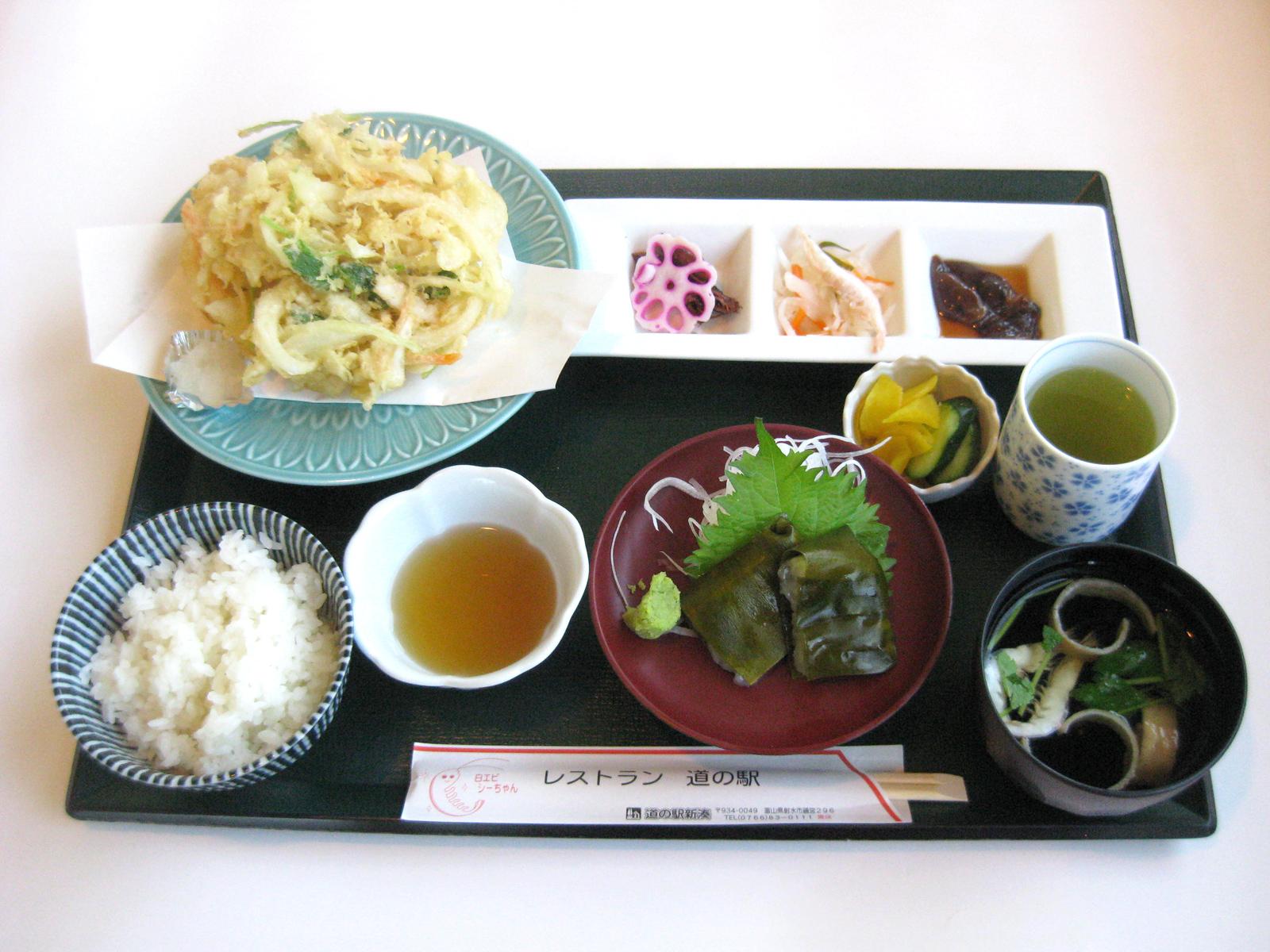 レストラン人気第3位!「白エビづくし膳」